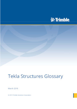 Tekla Structures glossary, 2019